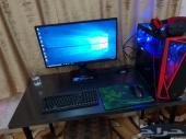 للبيع جهاز كامل PC احترافي مع الشاشة والكرسي