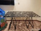 طاولة مكتبية زجاجية بدون فك أو تركيب
