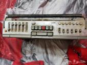 راديو مع مسجل قديم شارب