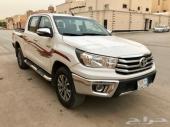هايلكس 2017 سعودي دبل مرشوش كامل ماشي 77000