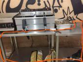 طاولات استان استيل للمطاعم شبه جديده