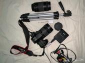 كاميرا كانون D70 للبيع نظيفه مع المعدات كامله