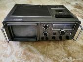 رايو و تلفزيون ومسجل ياباني قديم وشغال