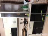 مطبخ ودولاب مستعمل وشبه جديد للبيع