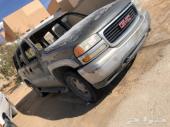 للبيع سيارة تشليح جمس يوكن L 2002محترقداخلية