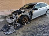 بي ام دبليو 750 محترق من الأمام 2011