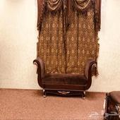 غرفة نوم كامله مع الستاير والفرشه