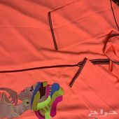 مقاس افري سايز ثوب مغربي اخرحبه لون صيفي اورج