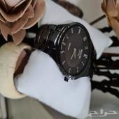 ساعة فاخرة بوكيا سيراميك أسود