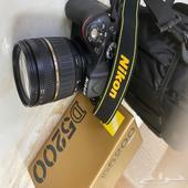 كاميرا نيكون D5200 وجميع ملحقاتها