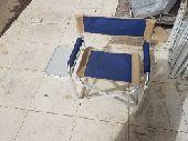 كرسي المنيوم مع طاوله