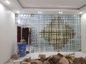 طوب زجاجي تركيب وتوريد glass block