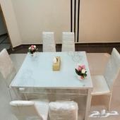 طاولة طعام 6 كراسي