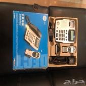 هاتف منزلي لاسلكي مستعمل بحالة جيدة يحتاج نغيير بطارية فقط