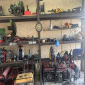 محل تاجير معدات والصيانتها للبيع بالاغراض كامله مع تقبيل