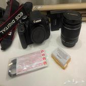 كاميرا كانون 650D و شنطة lowepro وترايبود