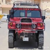 همر H1 الفا احمر موديل 2006 ماشي 36 الف فقط