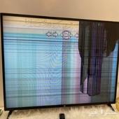 شاشه LG49 مكسوره