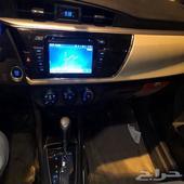 سيارة كورولا Gli 2015 للبيع جنوط وبصمة وشاشة تواصل واتس اب