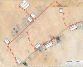 3 شرايح زراعيةعلى طريق الدمام الرياض السريع
