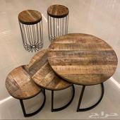للبيع طاولات خشبية صناعة هندية