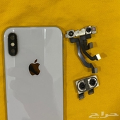 خلفية جوال ايفون x وكاميرا امامية وكاميرا خلفية