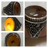 خاتم فضة حجر عقيق يمني