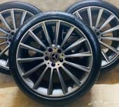 جنوط مرسيدس S500 2016 الشكل الفل مع كفرات