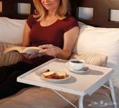 طاولة مناسبة لسرير وطعام لكبار واطفال لاب توب
