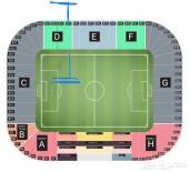 للبيع تذاكر مباراة الهلال والسد منتصف الملعب