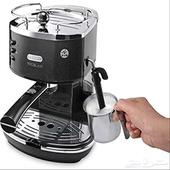 للبيع ماكينة قهوة شبه جديده من ديلونجي