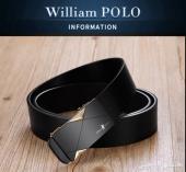 أحزمه جلد فخمه ماركة بولو William POLO