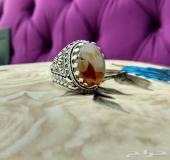 خاتمين من اجمل العقيق المصور اليمني صورة مرأة