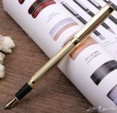 قلم وكبك ذهبي للبيع