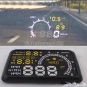 بروجكتور لسيارات يعرض السرعة والحرارة (مستخدم)