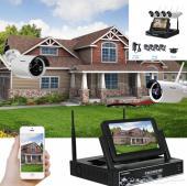 4 كاميرات مراقبة مع جهاز NVR مزود بشاشة HD