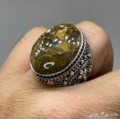 مزاد لمدة12ساعة فقط على خاتم فضة بحجر عقيق يم