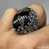 مزاد لمدة 12 ساعة فقط على خاتم فضة بحجر عقيق يماني