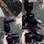 كاميرة نيكون D5300 مع عدستها و فلاش للبيع