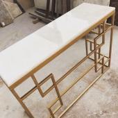طاولات حديد وغرف نوم خشب  تفصيل حسب الطلب