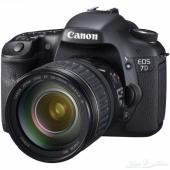 Canon 7D الإحترافيه مع ملحقاتها