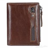 محفظة جلد أصلي طبيعي