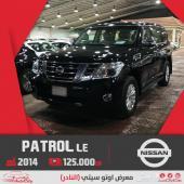نيسان باترول LE400 ستاندر ب125.000 سعودي 2014