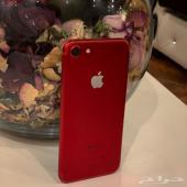 للبيع ايفون 7 احمر شبه جديد