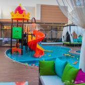 استراحة ترفيهية بنظام فندقي ووألعاب مائية