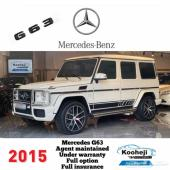 Mercedes G63 2015 Under warranty  Agent maint