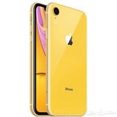 ايفون XR اللون اصفر مستعمل مافيه خدوش او كسور التوصيل جميع