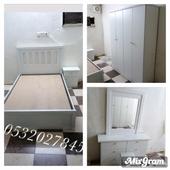 غرف نوم نفرين ونفرونص وسريران مع التركيب تبدا من1600الباحة