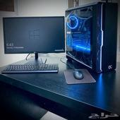 كمبيوتر مكتبي قوي وشاشة 24 intel i5 - العاب DesktopPC Gaming