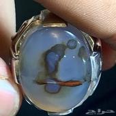 للبيع خاتم عقيق نادر رجل يصلي طبيعي